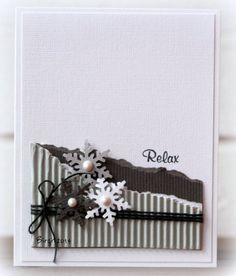 CAS254 Snowflakes by Biggan - Cards and Paper Crafts at Splitcoaststampers