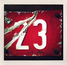 red and white 23 Number Tattoo Fonts, Number Tattoos, Lucky Number, Chalk Fonts, 23 And Me, Today Is My Birthday, Alphabet And Numbers, Creative Inspiration, Names