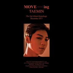 "Taemin (SHINee) - MOVE-ing Taemin recently realeased ""MOVE-ing"" the repackage album of ""MOVE"", This record consists of 8 previous released tracks plus 4 new songs, which I. Music Covers, Album Covers, Shinee Albums, Shinee Members, Shinee Taemin, Korean Entertainment, Album Songs, Kpop, Korean Music"