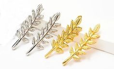 Branch Drop Earrings Silver or Gold Leaf Dangle Hook Jewelry NEW Christmas Gift #Handmade #Stud