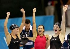 Olympics 2012: U.S. women's swim team sets world record with gold medal. Still get goosebumps watching,miss my swimming days!