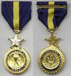 Navy Distinguished Service Medal.  The Navy Distinguished Service Medal was established by Act of Congress, approved February 4, 1919.  The Navy Distinguished Service Medal has been in effect since April 6, 1917. The Navy Distinguished Service Medal is awarded to service members who, while serving in any capacity with the Navy or Marine Corps, distinguish themselves by exceptionally meritorious service to the Government in a duty of great responsibility.