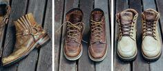 botas bem usadas da caterpillar, paraiso e west coast hype br