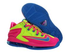 Nike LeBron 11 Low GS Volt Photo Blue Hyper Pink 644534 700 Nike Shoe Store, Buy Nike Shoes, Discount Nike Shoes, Nike Shoes For Sale, Lebron 11, Nike Lebron, Nike Factory Outlet, Nike Outlet, Cheap Nike Air Max