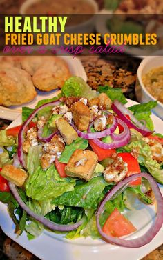 Healthy Fried Goat Cheese Crumbles Over A Crisp Salad – Simply Taralynn