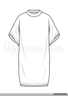 Dress fashion flat technical drawing template Buy this stock vector and explore similar vectors at Adobe Stock fashion portfolio Dress Design Drawing, Dress Design Sketches, Dress Drawing, Fashion Design Drawings, Drawing Clothes, Fashion Sketches, Drawing Fashion, Flat Drawings, Technical Drawings