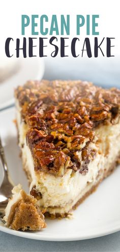 Whip up this incredible pecan pie cheesecake this holiday season. Informations About Whip up this incredible pecan pie cheesecake this holiday season. Pie Recipes, Dessert Recipes, Pecan Pie Cheesecake, Strawberry Cheesecake, Chocolate Cheesecake, Pecan Pie Filling, Onion Pie, Pecan Bars, Flaky Pastry