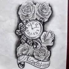 Resultado de imagem para relogio bolso tattoo