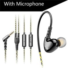 KZ S6 Sports Headphones Mobile Phone Earphones With Microphone HIFI Noise Cancelling Bass Headsets