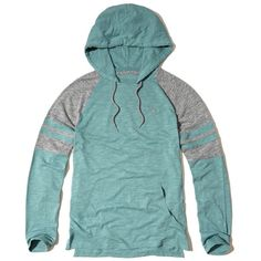 Hollister Colorblock Jersey Hooded T-Shirt ($30) ❤ liked on Polyvore featuring men's fashion, men's clothing, men's shirts, men's t-shirts, green, mens slim fit t shirts, mens hooded shirts, men's color block shirt, mens long sleeve hooded t shirt and mens longsleeve shirts