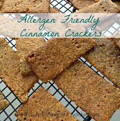 This recipe for Cinnamon Crackers (or Grain Free Grahams) my new allergy friendly food blog, Worth Cooking. For convenience, here is the ingredient list: ¼ cup ground flax, chia, or a combo of the ...