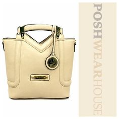 """Beige FLORENCE Tote Bag w/ Optional Shoulder Strap Versace 19-69 Abbigliamento Sportivo Sel • Zip closure • Exterior impulse pocket w/ zipper • Interior pocket w/ zipper • Two interior impulse pockets • Small dot on front of bag (manufacturer's defect) • Polyester shell & lining • Height 10"""" • Width 5"""" Length 11""""  Like what you see? Follow me! On PM @PoshWearHouse On IG www.instagram.com/PoshWearHouse On FB www.facebook.com/PoshWearhouse Versace 19-69 Bags Totes"""