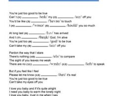 Songs and Phonetics: Can't Take My Eyes Off You by Muse