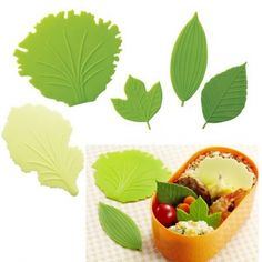 Silicone Microwavable Reusable Bento Baran Lettuce Leaf Sheet for. Japanese Bento Lunch Box, Bento Recipes, Lettuce Leaves, Food Picks, Baking Supplies, Cute Food, Microwave, Lunch Ideas, Meal Ideas