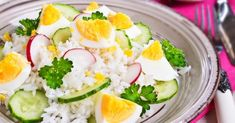 Recette de Riz minceur aux radis, concombre et oeuf dur. Facile et rapide à réaliser, goûteuse et diététique. Ingrédients, préparation et recettes associées.