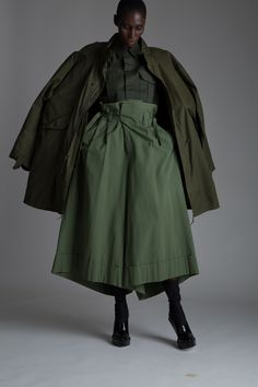Vintage Junya Watanabe Comme des Garçons Trousers, Military Shirt and Parka Designer Vintage Clothing Dark Minimal Fashion