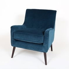 Contemporary Arm Chair Accent Mid Century Blue Modern Living Room Furniture Seat #PorterInternationalDesigns #ContemporaryMidCenturyModern #Chair #ArmChair #LivingRoom #Furniture