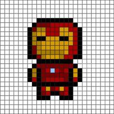 grille pour crocheter un pixel plaid. Adapter les grannys.