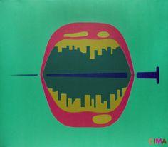 """""""Glossy Trauma-V,"""" Tushar Potdar, acrylic on canvas, 2012"""