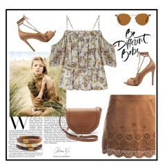 """""""Untitled #334"""" by jovana-p-com ❤ liked on Polyvore featuring Miss Selfridge, Sans Souci, Schutz, Tory Burch, Oliver Peoples and Chico's"""
