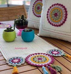 Crochet Mat, Baby Knitting, Diy And Crafts, Pillow Covers, Mandala, Decoration, Cross Stitch, Throw Pillows, Blanket