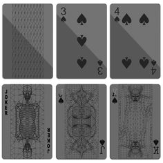 Black on Black Playing Cards. $10