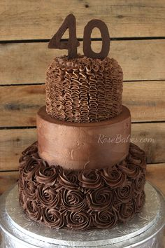 A Chocolate Chocolate 40th Birthday Cake.  Yes, it's double chocolate   I couldn't think of a more creative name for this cake, so that one will have to do.  It's Day 8 of the Write 31 Days challenge and this post will be pretty short & sweet.