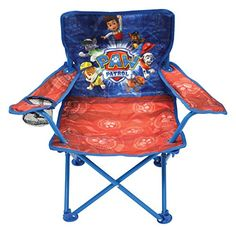 The Paw Patrol Fold N' Go Chair has colorful character graphics and is great for indoors or outdoors. Sturdy metal tubular construction. Folds for easy storage & comes with its own carry bag. Each cha...