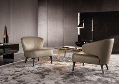 Contemporary armchair / by Rodolfo Dordoni - ASTON - Minotti