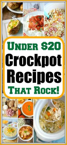 Easy cheap crockpot meals for our family! If slow cooker meals are your style to… Easy cheap crockpot meals for our family! If slow cooker meals are your style too let us share our favorite using chicken, beef, and pork with you. Slow Cooking, Easy Cooking, Vol Au Vent, Healthy Crockpot Recipes, Slow Cooker Recipes, Crockpot Cheap Meals, Soup Recipes, Turkey Recipes, Beef Recipes