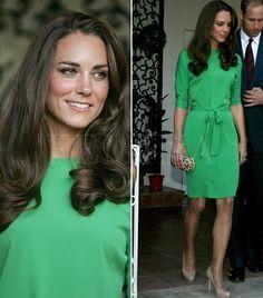 Every girl needs a little green dress! Kate Middleton | best stuff