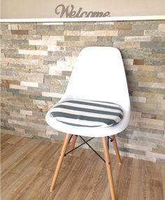 Sitzkissen für Eames Chair mit Reißverschluss grau   Fur, Eames ...