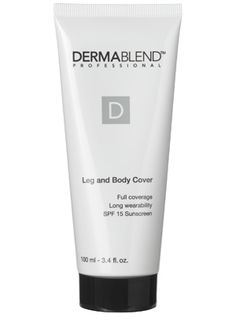 Dermablend Leg and Body Cover I have scars and dark spots on my arms and legs; this stuff is great when you want to cover them up for big events