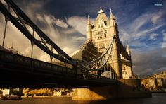 So Crazy Art - Canvas Print Wall Art Painting For Home Decor,Tower Bridge In England Paintings Modern Giclee Stretched And Framed Artwork Oil The Picture For Living Room Decoration,City Pictures Photo Prints On Canvas Bridge Wallpaper, Windows Wallpaper, City Wallpaper, London Bridge, Living At Home, Living Room, Travel Goals, Travel Bag, Tower Bridge