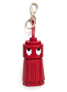 Anya Hindmarch Woman Ghost Printed Leather Tassel Keychain Red Size Anya Hindmarch vmiBvlpn