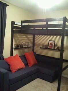 DIY Teen bedroom...the boys loved it !