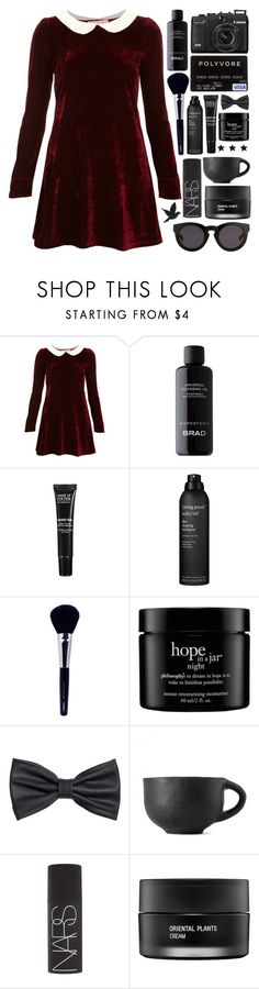 """""""Untitled #765"""" by nightlock ❤ liked on Polyvore featuring Oh My Love, BRAD Biophotonic Skin Care, MAKE UP FOR EVER, Living Proof, Napoleon Perdis, philosophy, H&M, Aerie, NARS Cosmetics and Koh Gen Do"""