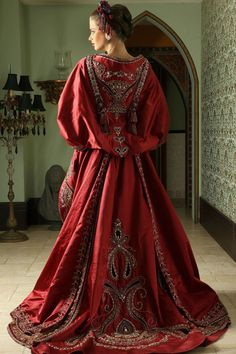 Henna Dress rich with embroidery made for Arushi Couture