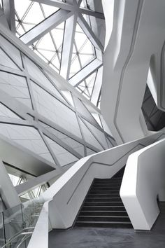 10 Inspirational and Architectural Lessons from Zaha Hadid - architecture Zaha Hadid Architecture, Collage Architecture, Futuristic Architecture, Amazing Architecture, Contemporary Architecture, Landscape Architecture, Interior Architecture, Stairs Architecture, Contemporary Design