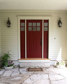 perfect for our front door. burgundy or brick red is one of the best paint colours for a front door Best Front Door Colors, Best Front Doors, Front Door Paint Colors, Best Paint Colors, Painted Front Doors, Front Door Design, Paint Colors For Home, Paint Colours, Exterior Door Colors