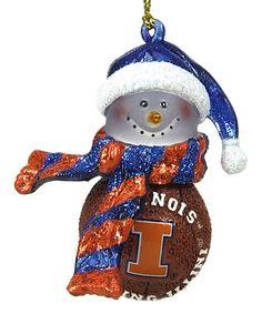 Illinois Fighting Illini Basketball Snowman Ornament #zulilyfinds