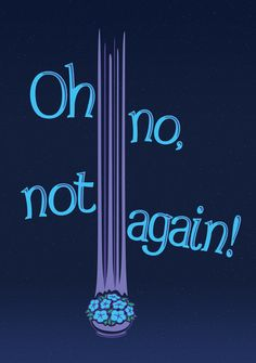 Oh No, Not Again! Art Print, inspired by the Hitchhikers Guide to the Galaxy.  From $14.99