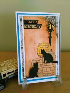 Mi Scrap: hb card Card Making, Happy Birthday, Scrapbook, Baseball Cards, Blog, Art, Cape Clothing, Masculine Cards, Lanterns