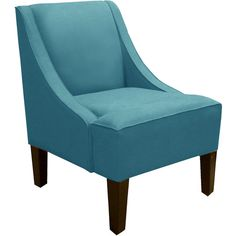 Complete your reading nook or add extra seating in your living room with this pine wood accent chair, featuring foam cushioning and swoop arms. Handmade in t...