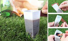 Café solúvel com embalagem que se transforma em xícara