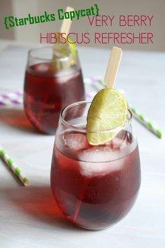 {Copycat Starbucks} Very Berry Hibiscus Refresher