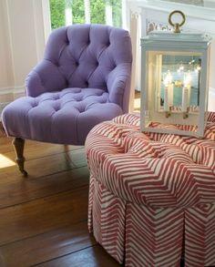 tini tufted chair with tini ottoman