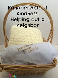 Random Acts of Kindness: Helping out a neighbor by Encourage Play  The Ultimate Pinterest Party, Week 40