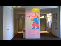 Post-it Note Arcade - Stop Motion Animation. Now, go try this in your own office.