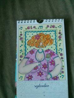 Dikke dames kleurkalender